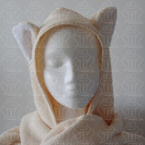 hooded towel cat i